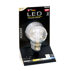 Utilitech 4-Watt (25W Equivalent) 3,000K Warm White Dimmable Decorative LED Light Bulb