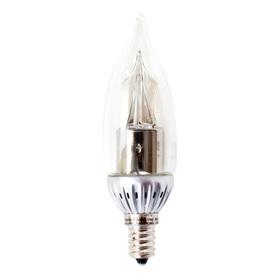 Utilitech Pro 4-Watt (25W Equivalent) 2,700K Candelabra Base (E-12) Warm White Dimmable Decorative LED Light Bulb