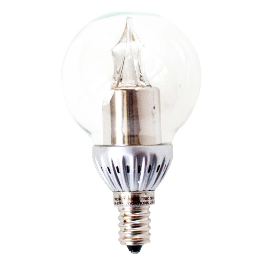Shop Utilitech Pro 4 Watt 25w Candelabra Base Warm White Dimmable Decorative Led Light Bulb At