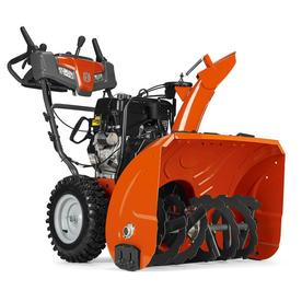Husqvarna 291-cc 30-in Two-Stage Push-Button Electric Start Gas Snow Blower with Heated Handles and Headlight