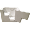Total Care in Bathing White Gelcoat/Fiberglass Rectangular Walk-in Bathtub with Right-Hand Drain (Common: 32-in x 52-in; Actual: 40-in x 32-in x 52-in