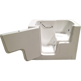 Total Care in Bathing White Gelcoat/Fiberglass Rectangular Walk-in Bathtub with Left-Hand Drain (Common: 32-in x 52-in; Actual: 40-in x 32-in x 52-in