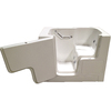 Total Care in Bathing 52-in x 32-in BS Series White Rectangular Walk-in Bathtub with Left-Hand Drain
