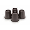 4-Piece 6-3/4-in Black Plastic Bed Risers