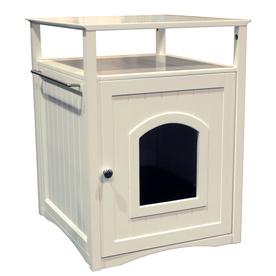 Merry Pet White Hooded Litter Box