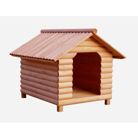 Shop merry pet medium wood dog house at lowescom for Dog houses sold at lowes
