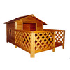 Merry Pet 3.25-ft x 6.6-ft x 7.5-ft Wood Dog House