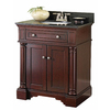 allen + roth Albain 31-in x 22-in Auburn Single Sink Bathroom Vanity with Granite Top