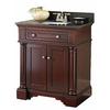 allen + roth Albain Auburn Undermount Single Sink Poplar Bathroom Vanity with Granite Top (Actual: 31-in x 22-in)