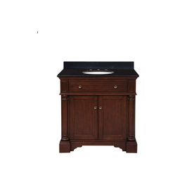 Allenroth Bathroom Vanities on Shop Allen   Roth Auburn Single Sink Bathroom Vanity With Top At Lowes