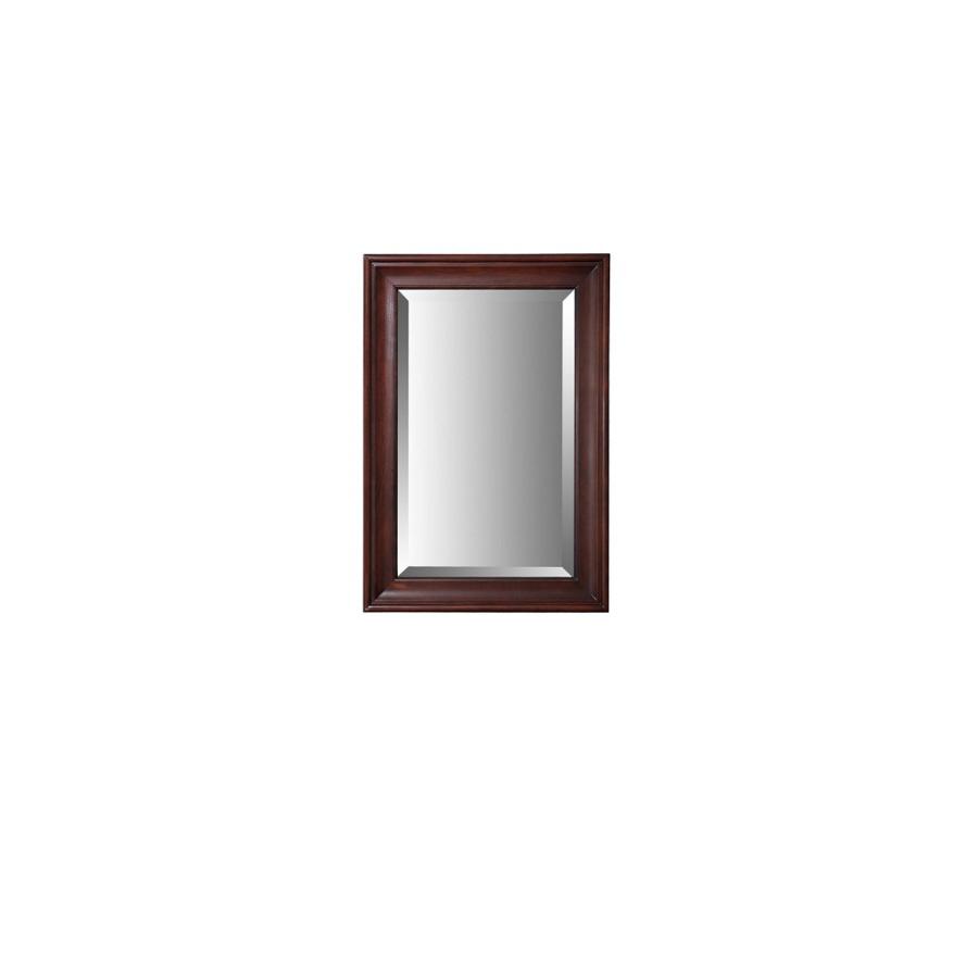 36 in h x 25 in w auburn rectangular bathroom mirror at