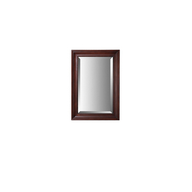 allen + roth Rosemere 25-in W x 36-in H Auburn Rectangular Bathroom Mirror
