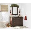 allen + roth Rosemere 28-in W x 36-in H Auburn Rectangular Bathroom Mirror