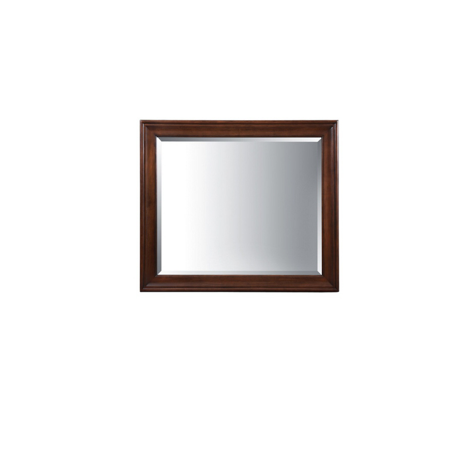 Shop allen roth rosemere 36 in h x 42 in w auburn for Mirror 42 x 36