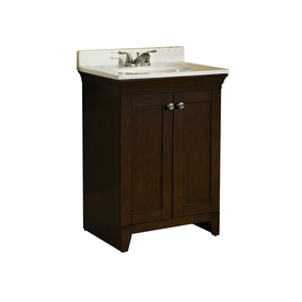 allen + roth 24-3/4-in Nutmeg Sycamore Single Sink Bathroom Vanity with Top