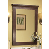 allen + roth Sycamore 23-in W x 30-in H Nutmeg Rectangular Bathroom Mirror