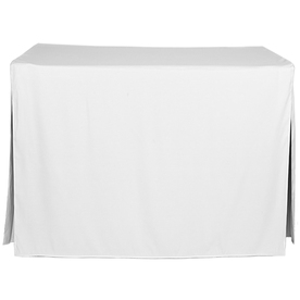 tablevogue Fitted Indoor/Outdoor White Table Cover for 4-ft Rectangle Table