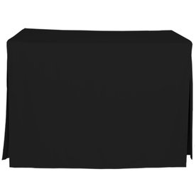 tablevogue Fitted Indoor/Outdoor Black Table Cover for 4-ft Rectangle Table