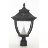 Gama Sonic Pagoda 3-in Black Solar-Powered Post Light