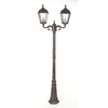 Gama Sonic Royal 89-in H Weathered Bronze Solar LED Post Light