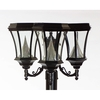 Gama Sonic Victorian 15-in Black LED Pier Mount Light