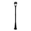 Gama Sonic Imperial II 97-in H Black Solar LED Complete Post Light