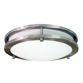 eLIGHT 12-in W Brushed Nickel Ceiling Flush Mount