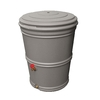 EarthMinded 65-Gallon Granite Plastic Rain Barrel with Diverter Spigot