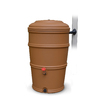 EarthMinded 50-Gallon Terracotta Color Plastic Rain Barrel with Diverter and Spigot