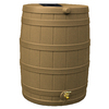 Rain Wizard 40-Gallon Khaki Plastic Rain Barrel with Spigot