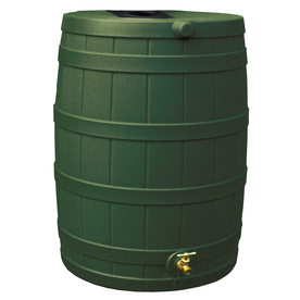 Shop Rain Wizard 40 Gallon Green Plastic Rain Barrel With