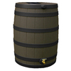 Rain Wizard 40-Gallon Oak with Dark Ribs Plastic Rain Barrel with Spigot