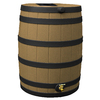 Rain Wizard 40-Gallon Khaki with Dark Ribs Plastic Rain Barrel with Spigot