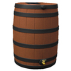 Rain Wizard 40-Gallon Terra Cotta with Dark Ribs Plastic Rain Barrel with Spigot