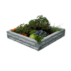 Garden Wizard 50-in W x 50-in L x 10.5-in H Light Granite Plastic Raised Garden Bed