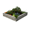 Garden Wizard 50-in L x 50-in W x 10.5-in H Plastic Raised Garden Bed