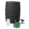 Rain Wizard 50-Gallon Black Recycled Plastic Rain Barrel with Diverter and Spigot