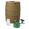 Rain Wizard 50-Gallon Khaki Plastic Rain Barrel with Diverter and Spigot