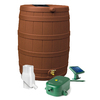 Rain Wizard 50-Gallon Terra Cotta Plastic Rain Barrel with Diverter and Spigot