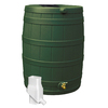 Rain Wizard 50-Gallon Green Plastic Rain Barrel with Diverter and Spigot