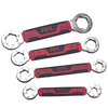 Skil SKIL 4-Piece Secure Grip Locking Flexible Head Matte Standard (SAE) Wrench Set
