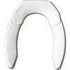 Adjustable Advantage Adjust for Comfort Solid White Plastic Elongated Toilet Seat