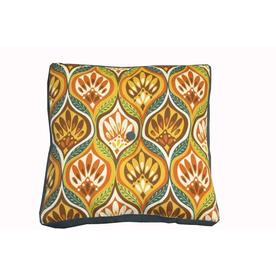allen + roth Zig Zag Orange UV-Protected Outdoor Accent Pillow