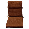 allen + roth 44-in L x 21-in W Rust Chair Cushion