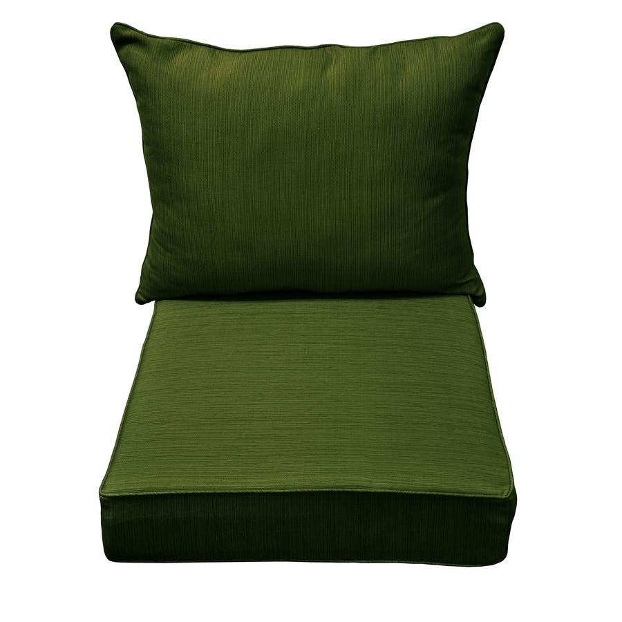 shop allen roth green patio chair cushion at