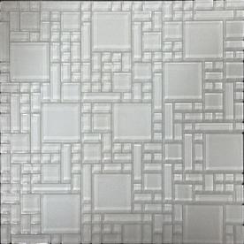 Instant Mosaic 2012 White Mosaic Glass Wall Tile (Common: 12-in x 12-in; Actual: 12-in x 12-in)