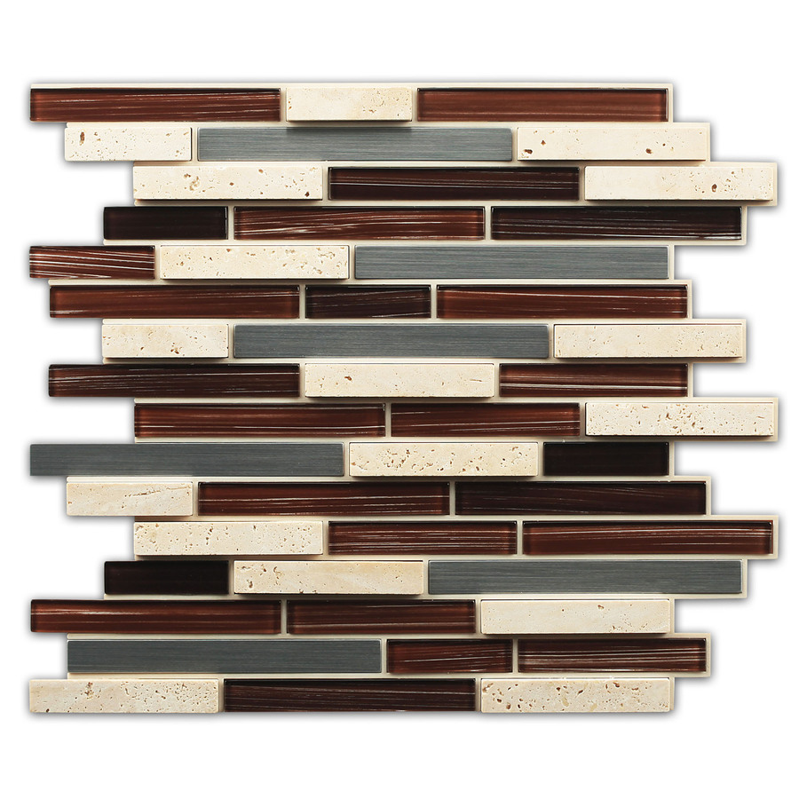 mosaic indoor outdoor peel and stick wall tile common 12 in x 14 in
