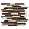 Instant Mosaic 2013 Brown Glass/Natural Stone/Metal Mosaic Glass and Metal Wall Tile (Common: 12-in x 14-in; Actual: 12-in x 14-in)