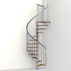 Arke Nice1 51-in x 10-ft Gray Spiral Staircase Kit