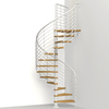 Arke Oak Xtra 51-in x 10-ft White Spiral Staircase Kit